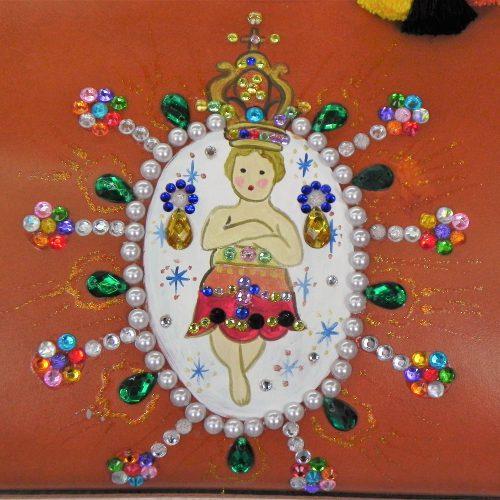 Borsa Tjndara marrone chiaro bambin Gesù