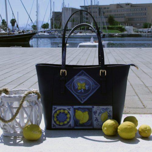 Borsa Tjndara Glam decoro limoni