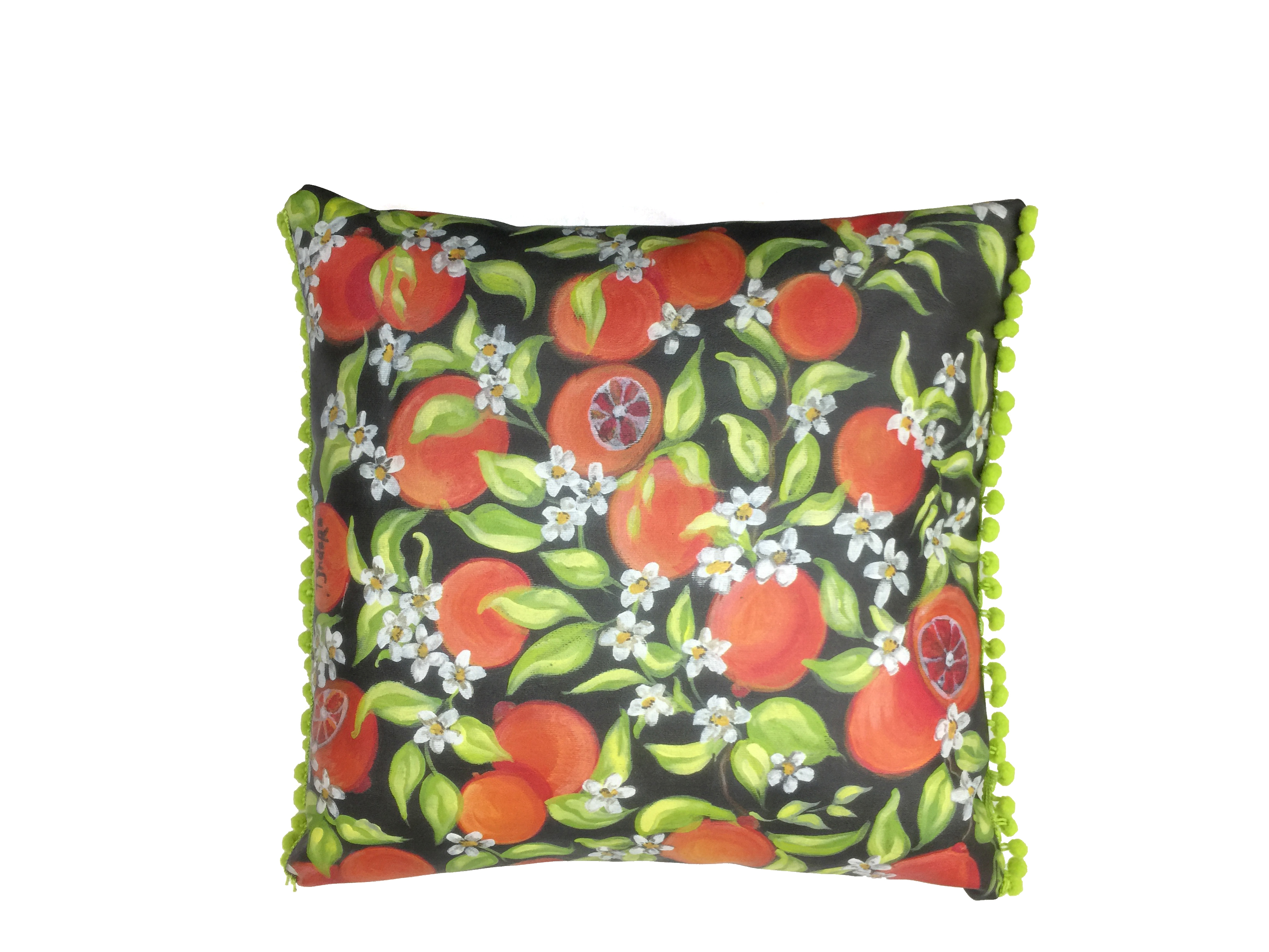 Cuscino Tjndara ecopelle orange pillow